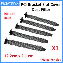 Pci Bracket Slot Cover Dust Filter Blank Panel Casing Case Komputer Pc