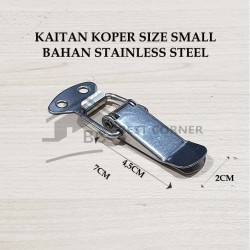 Kaitan Koper Small STAINLESS STEEL / Overval / Kaitan peti / Koper