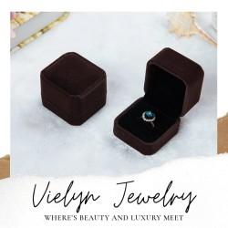 kotak cincin / ring box / cincin - Cokelat