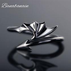 Cincin sayap model terbuka punk cincin pria wanita