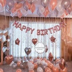 Paket Dekorasi Ulang Tahun / Happy Birthday Decoration ROSE GOLD 05