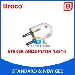 Broco Steker Arde New Gee Putih 13310 Colokan Bulat 2P White Original