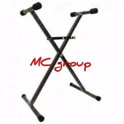Stand keyboard X single silang/stand piano kaki silang single