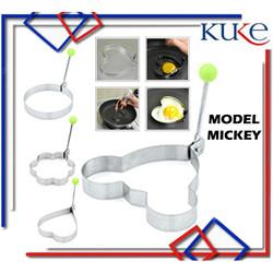 KUKE Alat Cetakan Telur Stainless / Cetakan Telur Goreng motif - MICKEY