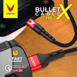 VYATTA BULLET TYPE C USB CABLE - FAST CHARGE - GARANSI 12 BULAN