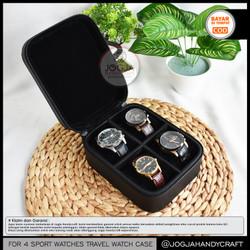 4 Slots Travel Watch Box Jumbo / Tempat Jam tangan / Kotak Jam Tangan