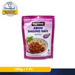 Pronas Abon Daging Sapi Bawang 100 g dengan kemasan Ziplock