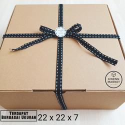 Dus kue kotak kue kotak cake box kue box cake roti corrugated 22x22x7