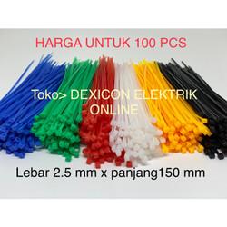 kabel ties 15cm/size 2.5 x 150 mm/dasi kabel/cable tie/tali serut