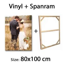 Cetak Foto Gambar Vinyl 80x100 cm Print Photo Banner Spanram 100x80 cm