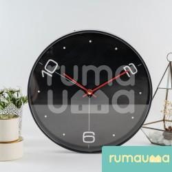 Jam Dinding Quartz Diameter 30 CM   Kantor Kamar Tidur Minimalis Murah