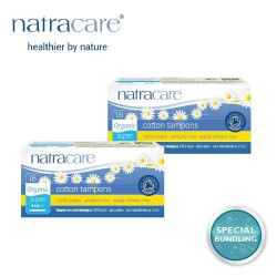 Natracare Cotton Tampons Super with Applicator 16s (2 pack)