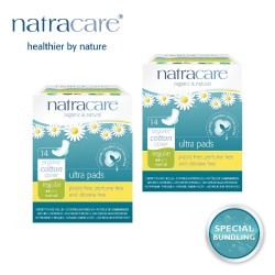 Natracare Ultra Pads Regular 14s (2 pack)