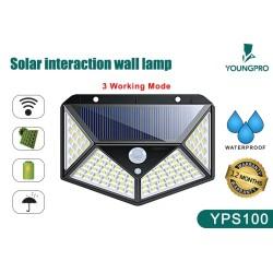 Lampu Dinding Tenaga Matahari - 100 LED Solar Panel Sensor gerak