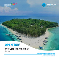 [Down Payment] Paket Wisata Open Trip Pulau Harapan ANT Tour Indonesia