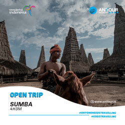 [Down Payment] Paket Wisata Open Trip Sumba NTB ANT Tour Indonesia