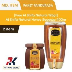 [Free Al Shifa 125Gr] Al Shifa Natural Honey Squeeze 400Gr
