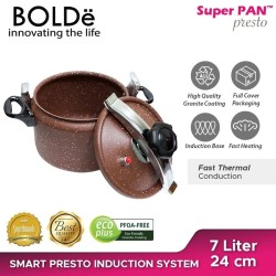 Panci Presto Original BOLDe bisa Kompor Induksi Brown Colour