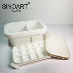 Palet Cuci Kuas Sinoart Plastic Brush Washer & Palette