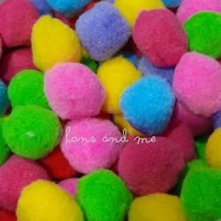 Pompom 4cm Warna Warni Mix