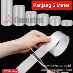 Stiker Transparan Anti Gores Sticker Protector Omextra High Bond DIY - Lebar 10 cm