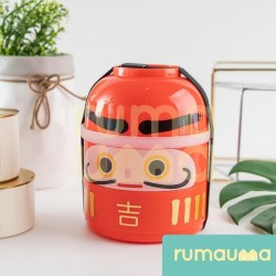 RUMAUMA Lunch Box Orange Bento - Kotak Makan Rantang 2 Susun Anak