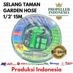 Paket Selang Air Hijau 15 Meter PROPELLER 1/2 inch hose variasi