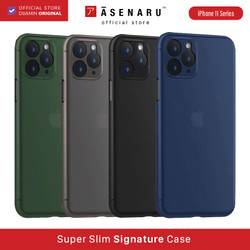 ASENARU iPhone 11/11 Pro/11 Pro Max Casing - Super Slim Signature Case - Gunmetal Gray, iPhone 11 Pro
