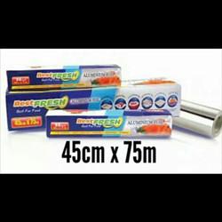 ALUMINIUM FOIL ROLL BEST FRESH FOR FOOD 45CM X 7,6M - 45 CM X 7.6 CM