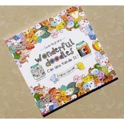 Buku Mewarnai Dewasa Adult Coloring: Wonderful Doodles English Version