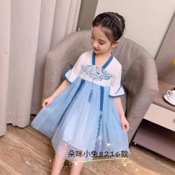 dress hanbok kekinian anak WHITE BLUE KOREAN HANBOK import keren bagus