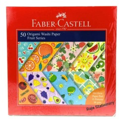 Faber Castell 50 Origami Washi Paper Fruit Series 16x16cm