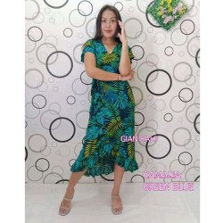 Kimono dress bali tropical