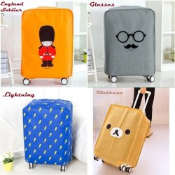 "Luggage Cover ""Fun Traveler Series"" / Penutup dan Pelindung Koper - Glasses, 20 inch"