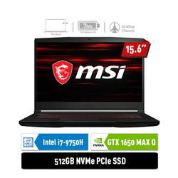 LAPTOP MSI GF63 9SCXR [9S7-16R412-837] i7-9750H 8GB 512GB GTX1650 4GB
