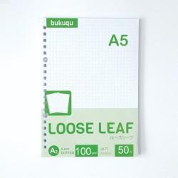 HVS Loose Leaf (DOTTED) Kertas Binder/ Isi Notes - (A5) 50 lbr