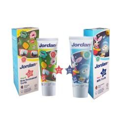 Jordan Toothpaste 75g FLUORIDE sesuai rekomendasi odol bayi odol anak - step 1 0-5thn