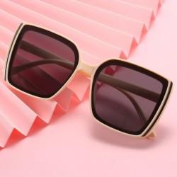 kacamata fashion wanita square sunglasses jgl149 - cream