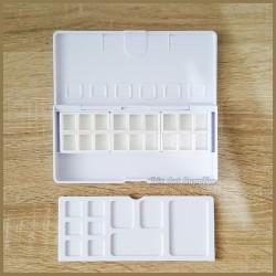 V-Tec Empty Watercolor Plastic Box Set 18 Half pan Palette BX-18