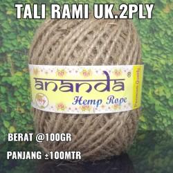 Tali Rami / Tali Goni / Hemp rope / 2ply @100 gram /± 100 meter