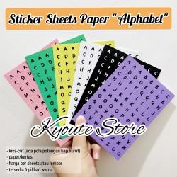 Sticker Alphabet Paper Huruf Nama Scrapbook DIY Planner Amplop Bujo - Merah Muda