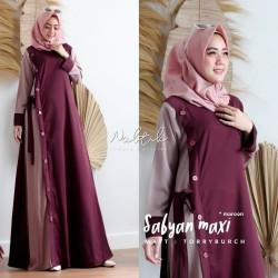Baju Gamis Wanita Terbaru | Sabyan Maxi Dress | Gamis Syari Muslim