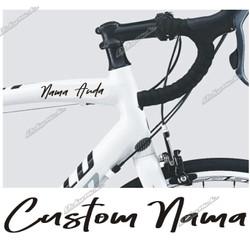 cutting sticker CUSTOM NAMA kode AB stiker sepeda