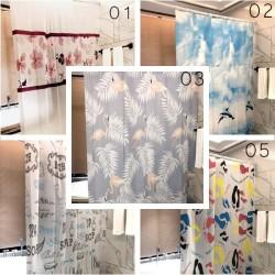 Tirai kamar mandi air PEVA / gorden kamar mandi shower curtain