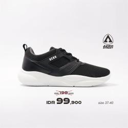 Aerostreet 37-40 Shanny Hitam Abu - Sepatu Sneakers Sport Wanita - 40