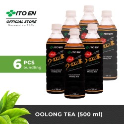 ITO EN Oolong Tea Unsweetened Teh Oolong Jepang 500ml No Sugar - 6 pcs