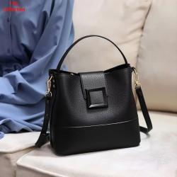 Sunny Bag Tas Selempang Wanita Kulit Tas Selempang Fashionable Simple - Hitam