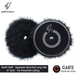 NORTWOLF JAPANESE WOOL PAD black hair long more powerfull for cutting