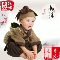 The Young Monk Costume Clothes Children