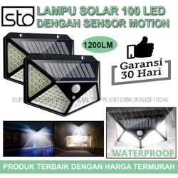 Lampu Taman 100 LED Sensor Gerak Tenaga surya - Lampu Dinding Solar